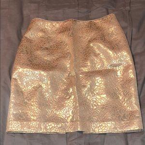 Gold & Pink Mini Skirt!